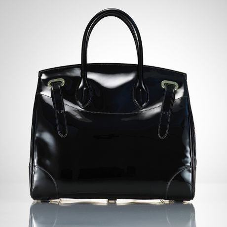 Ralph Lauren Collection The Patent Ricky Bag in Black