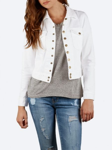 Current/elliott The Snap Jacket in White (SUGAR) - Lyst