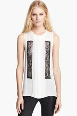 Haute Hippie Pleated Blouse - Lyst