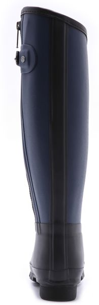 Hunter Rag Bone X Hunter Tall Boots In Blue Black Navy