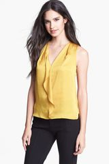 Kenneth Cole Hester Ruffle Blouse - Lyst