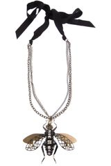 Lanvin Insect Necklace - Lyst