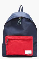 Nanamica Navy and Red Canvas Backpack - Lyst
