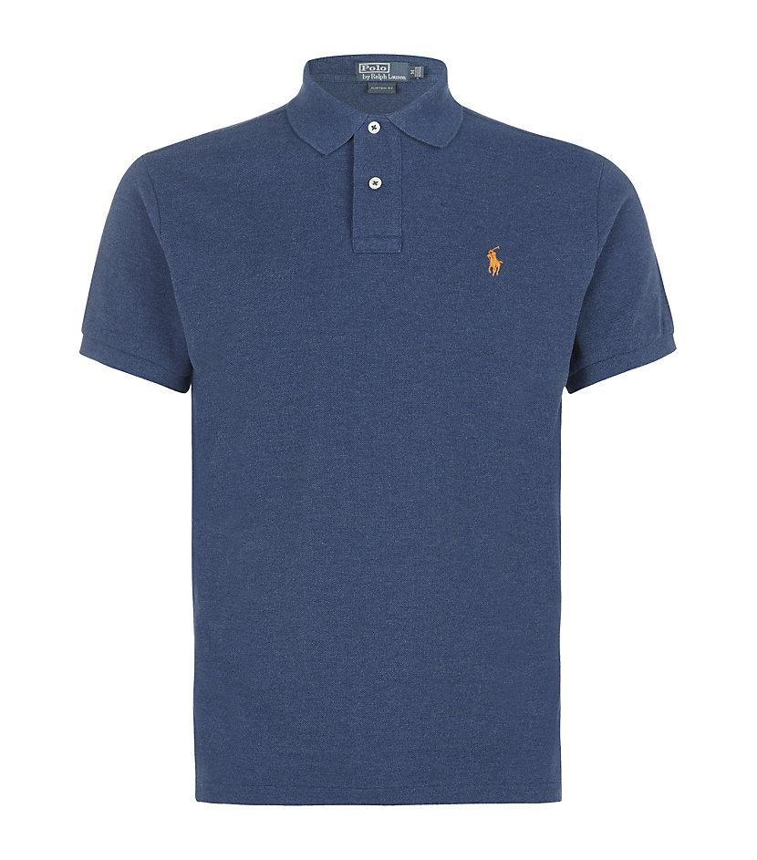 Polo Ralph Lauren Custom Fit Polo Shirt In Blue For Men Lyst