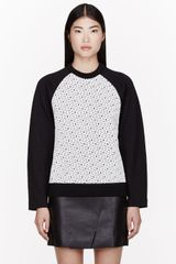 Proenza Schouler Black Embroidered and Quilted Sweatshirt - Lyst