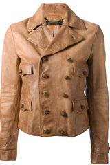 Ralph Lauren Blue Label Leather Jacket - Lyst