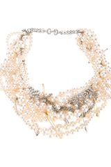 Tom Binns Pearl and Crystal Necklace - Lyst
