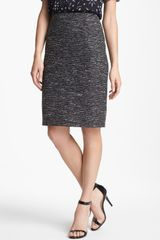 Vince Camuto Metallic Tweed Pencil Skirt - Lyst