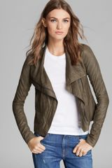 Vince Jacket Asymmetric Leather - Lyst