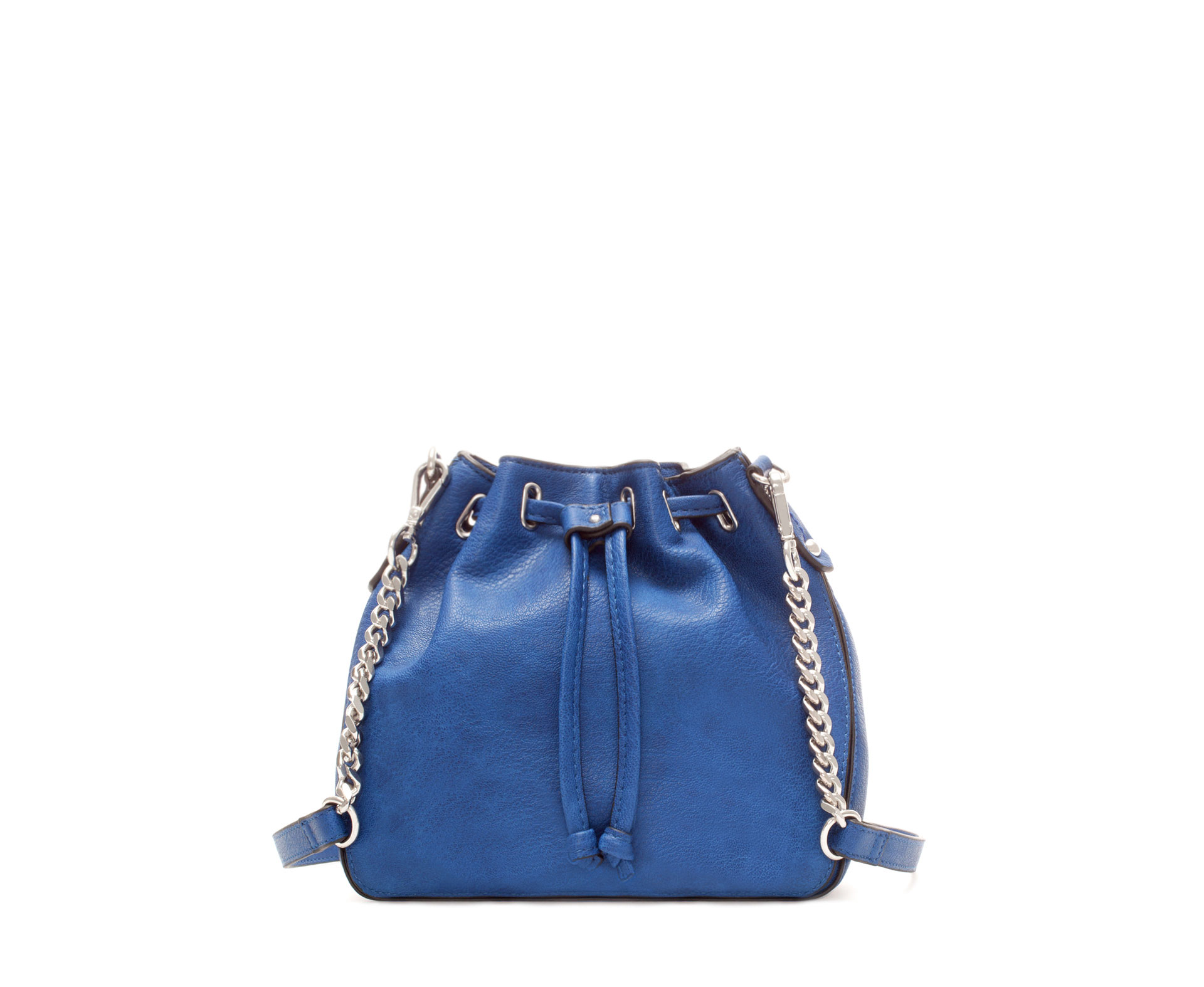 Zara Mini Bucket Bag in Blue | Lyst