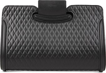 Alexander McQueen Heroine Quilted Leather Clutch - Lyst