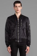 Blk Dnm Bomber Jacket in Black - Lyst