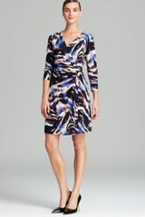 Calvin Klein Printed Wrap Dress - Lyst