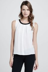 Joie Womens Risalle Sleeveless Pleated Tank - Lyst