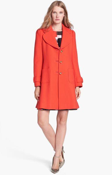 Kate Spade Eryn Wool Coat In Red Maraschino Lyst