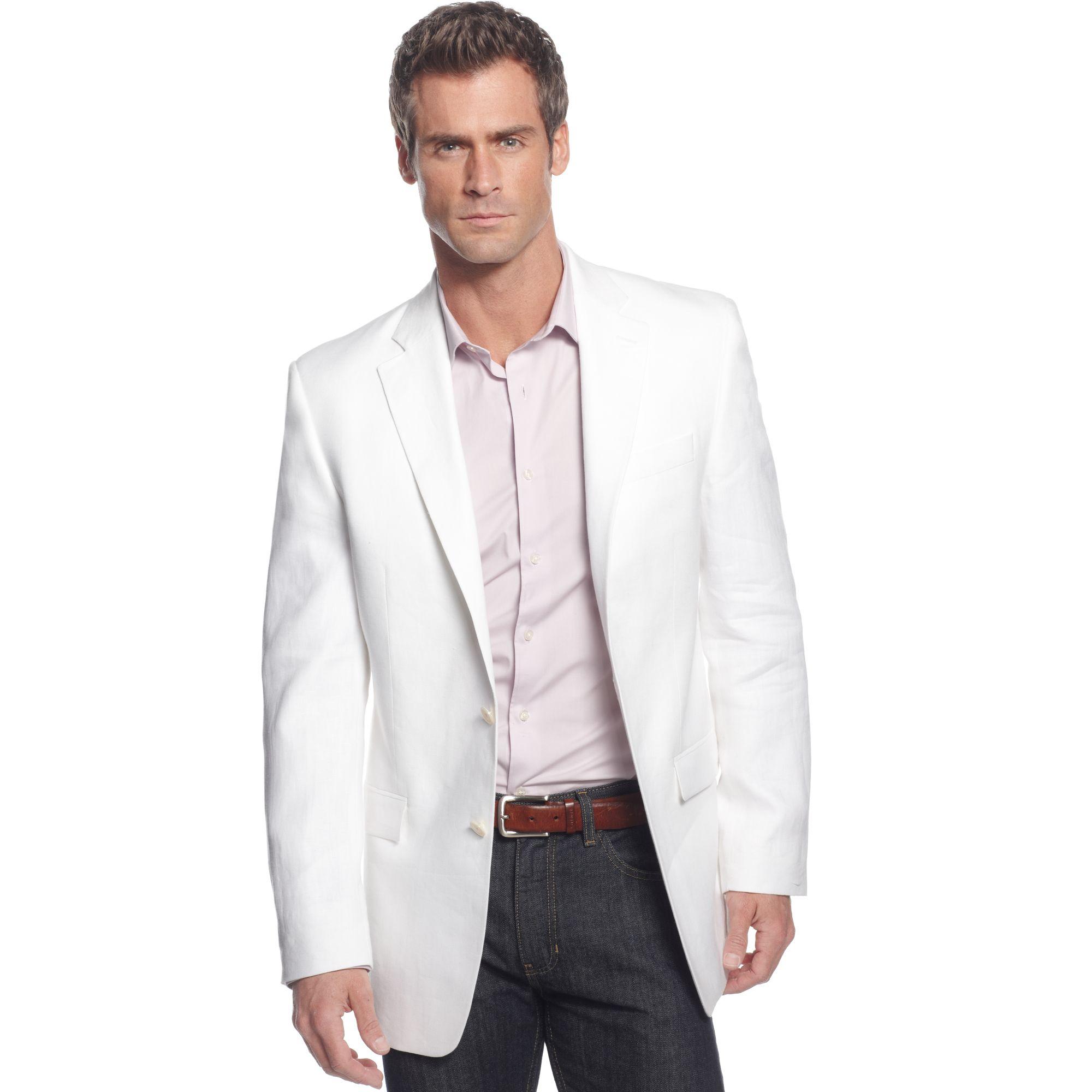 Lauren By Ralph Lauren White Linen Blazer In White For Men
