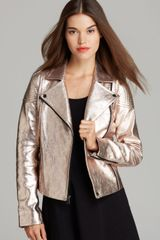 Marc By Marc Jacobs Jacket Celeste Metallic Leather - Lyst