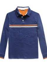Mango Contrast Striped Cotton Polo Shirt - Lyst