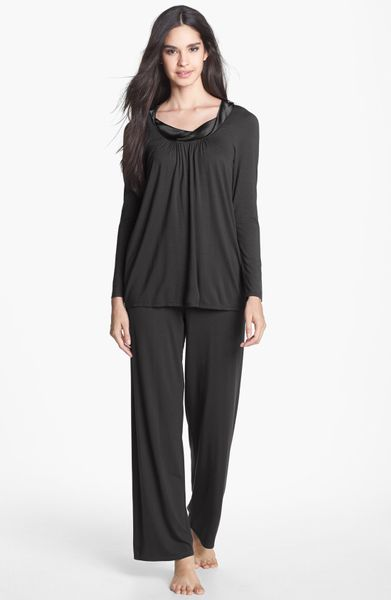 Midnight By Carole Hochman Forever Always Pajamas in Black