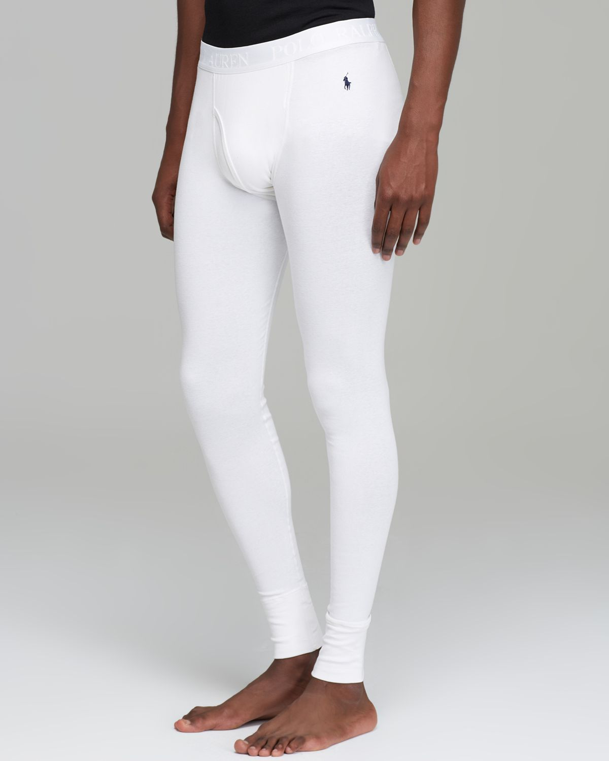 7eb930487bc8 ... free shipping lyst polo ralph lauren long john pants in white for men  e4d80 42ff2