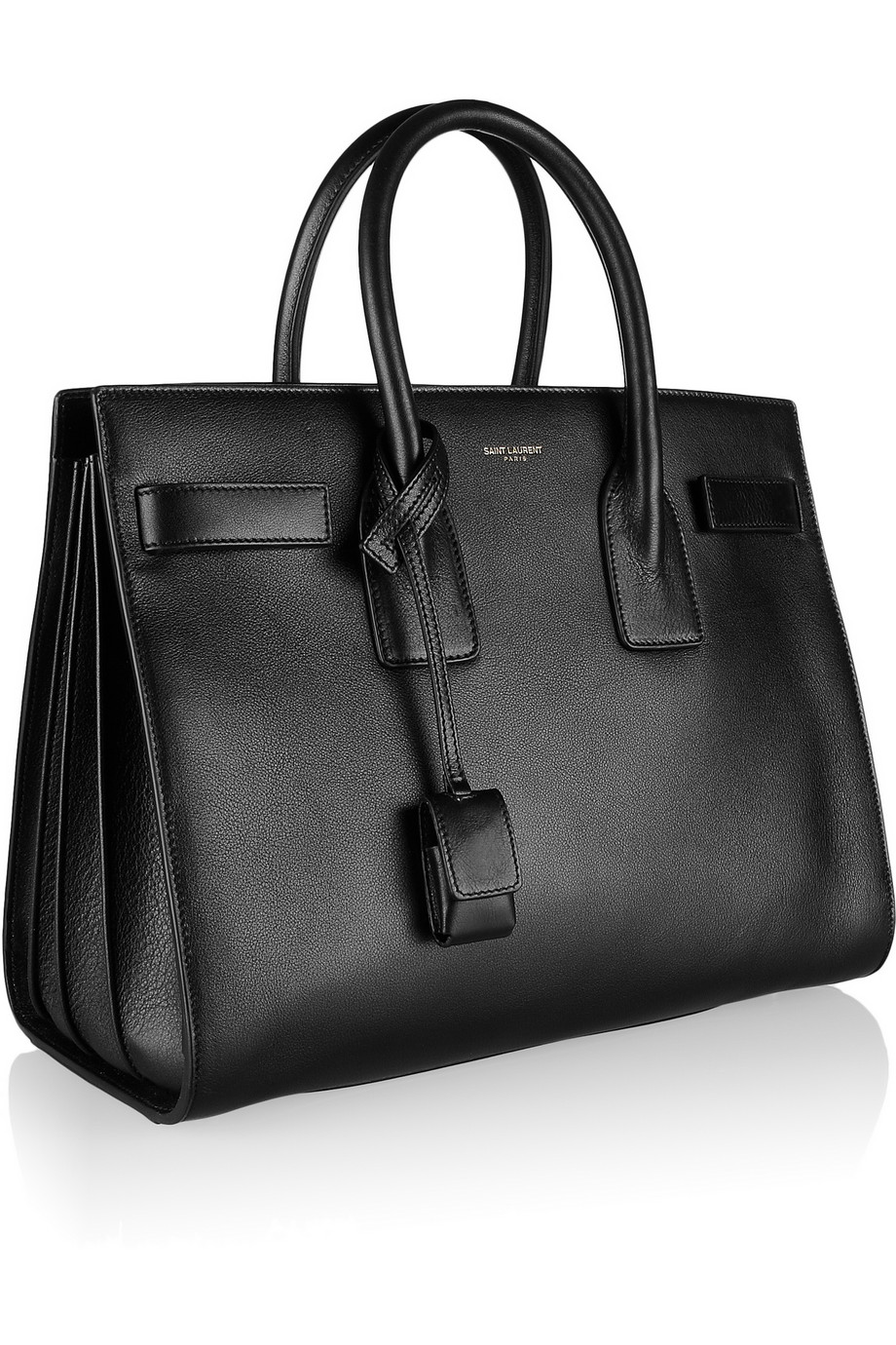 saint laurent sac de jour small leather tote in black nero lyst. Black Bedroom Furniture Sets. Home Design Ideas