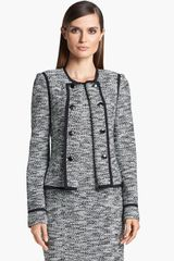 St. John Collection Fleck Tweed Knit Jacket - Lyst