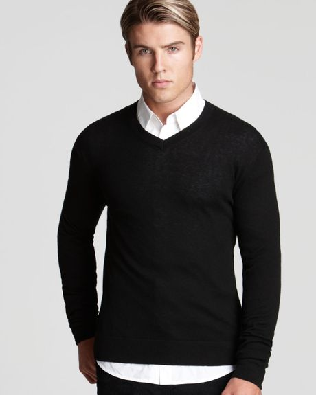 Black V Neck Cashmere Sweater The Mens Store At ...