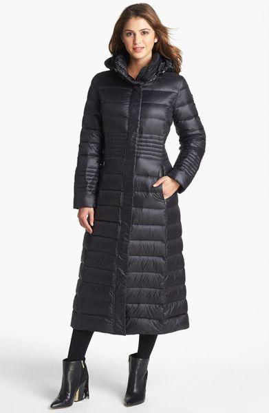 Calvin Klein Lightweight Down Coat In Black Lyst