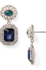 Carolee Regal Reflections Double Drop Earrings - Lyst