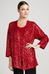 Caroline Rose Sequined Jacket - Lyst