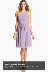 Donna Morgan Rhea One Shoulder Chiffon Dress - Lyst