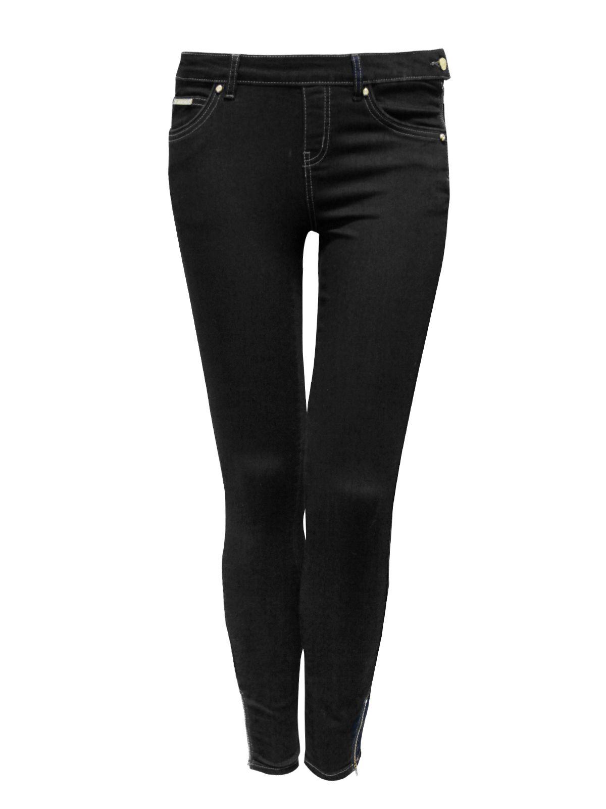 Jane norman Side Zip Jeggings in Black