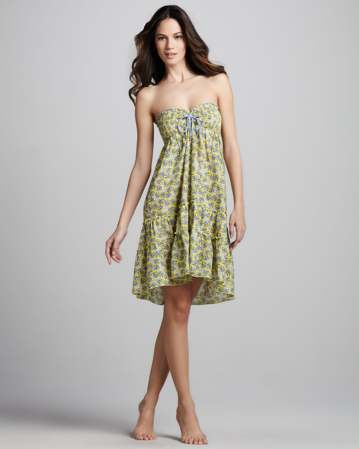 Lyst - Juicy Couture Love Birds Strapless Coverup Dress in Green