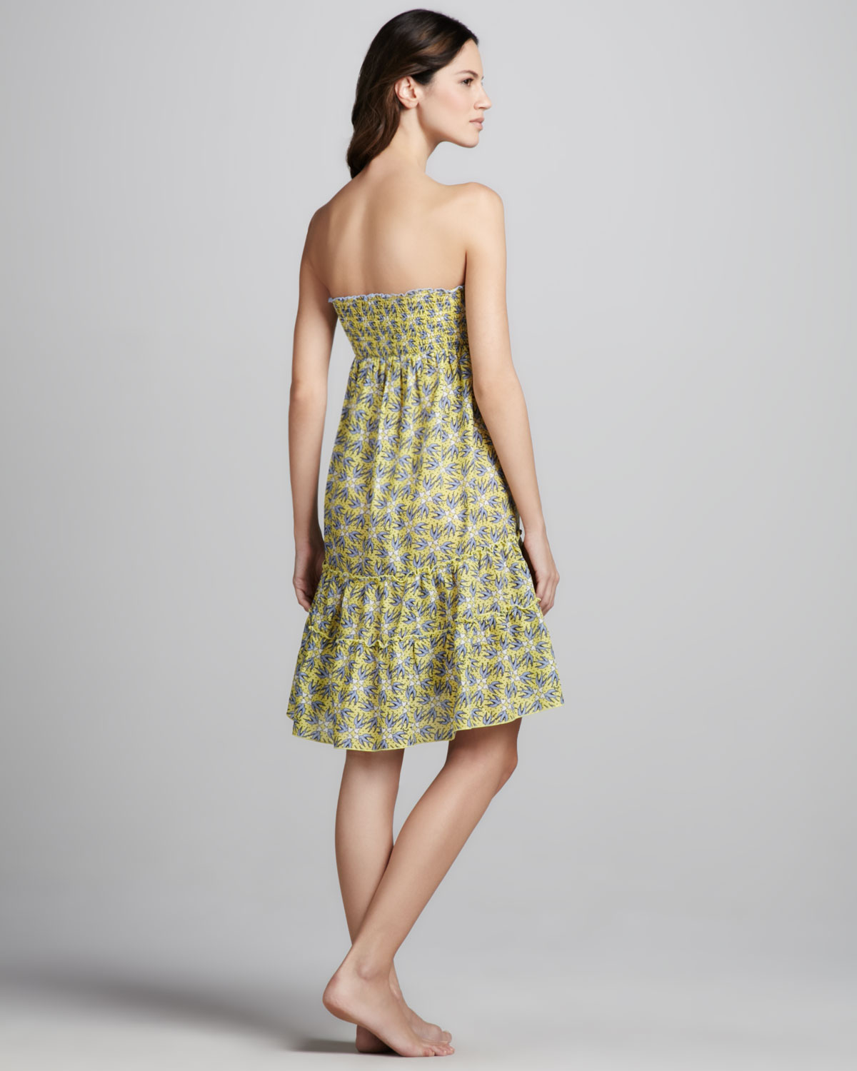 0de79c2365d43 Juicy Couture Love Birds Strapless Coverup Dress in Green - Lyst