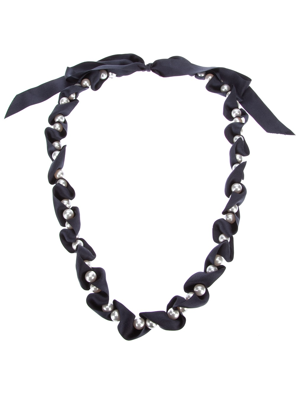 sweetest black brook ribbon of song daisy silk necklace shop product