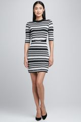 M Missoni Tubular Zigzag Halfsleeve Dress - Lyst