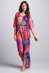 Matthew Williamson Ropewaist Printed Maxi Coverup - Lyst