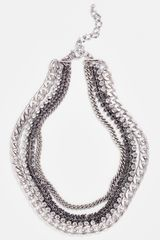 Natasha Couture Multi Chain Necklace - Lyst