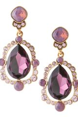 Oscar de la Renta Chandelier Crystal Earrings Aubergine - Lyst