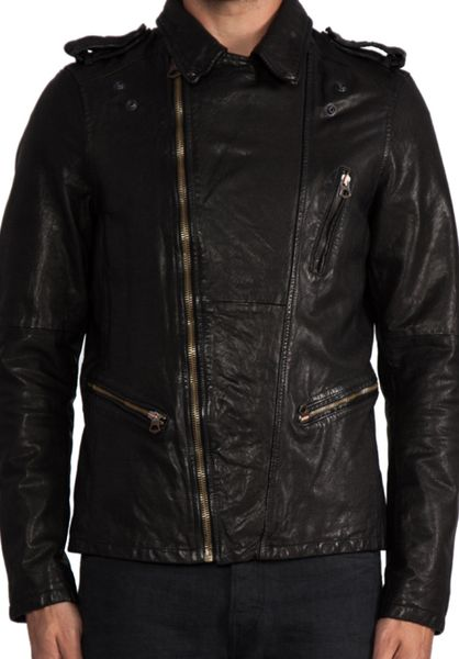 Vince Leather Jacket Mens