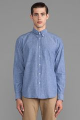 Steven Alan Classic Collegiate Shirt in Blue - Lyst