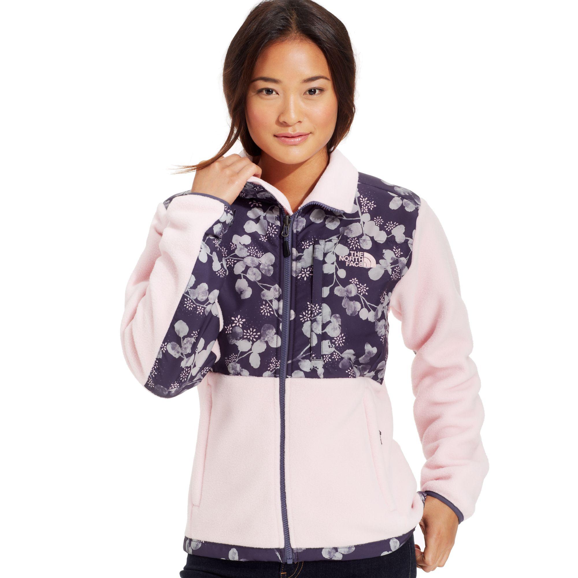 9dd712e76bd1 ... jacket f03f6 dc03b  usa lyst the north face denali printed fleece in  purple 859bf 81dda
