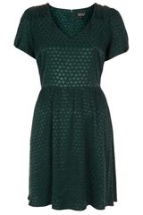 Topshop Heart Jacquard Tea Dress - Lyst