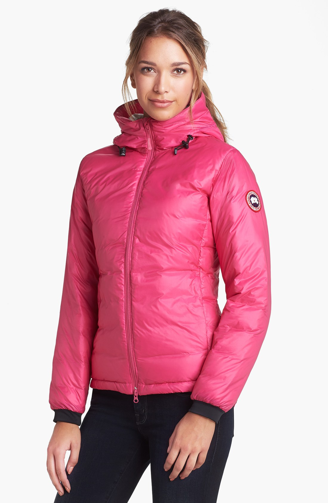 Canada goose Camp Hooded Down Jacket in Pink | Lyst