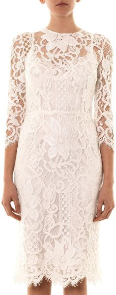 Dolce And Gabbana White Lace Dress Dolce Amp Gabbana Macram Lace