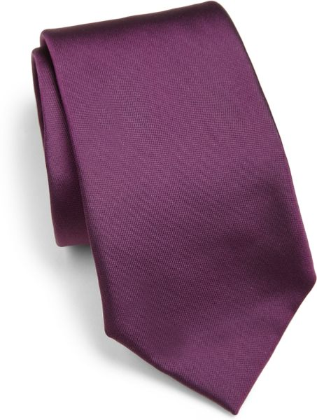 ralph lauren black label violet solid peau de soie tie product 1 13914366 708508299 large. Black Bedroom Furniture Sets. Home Design Ideas