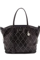 Alexander McQueen New Padlock Small Studded Shopper Bag Black - Lyst
