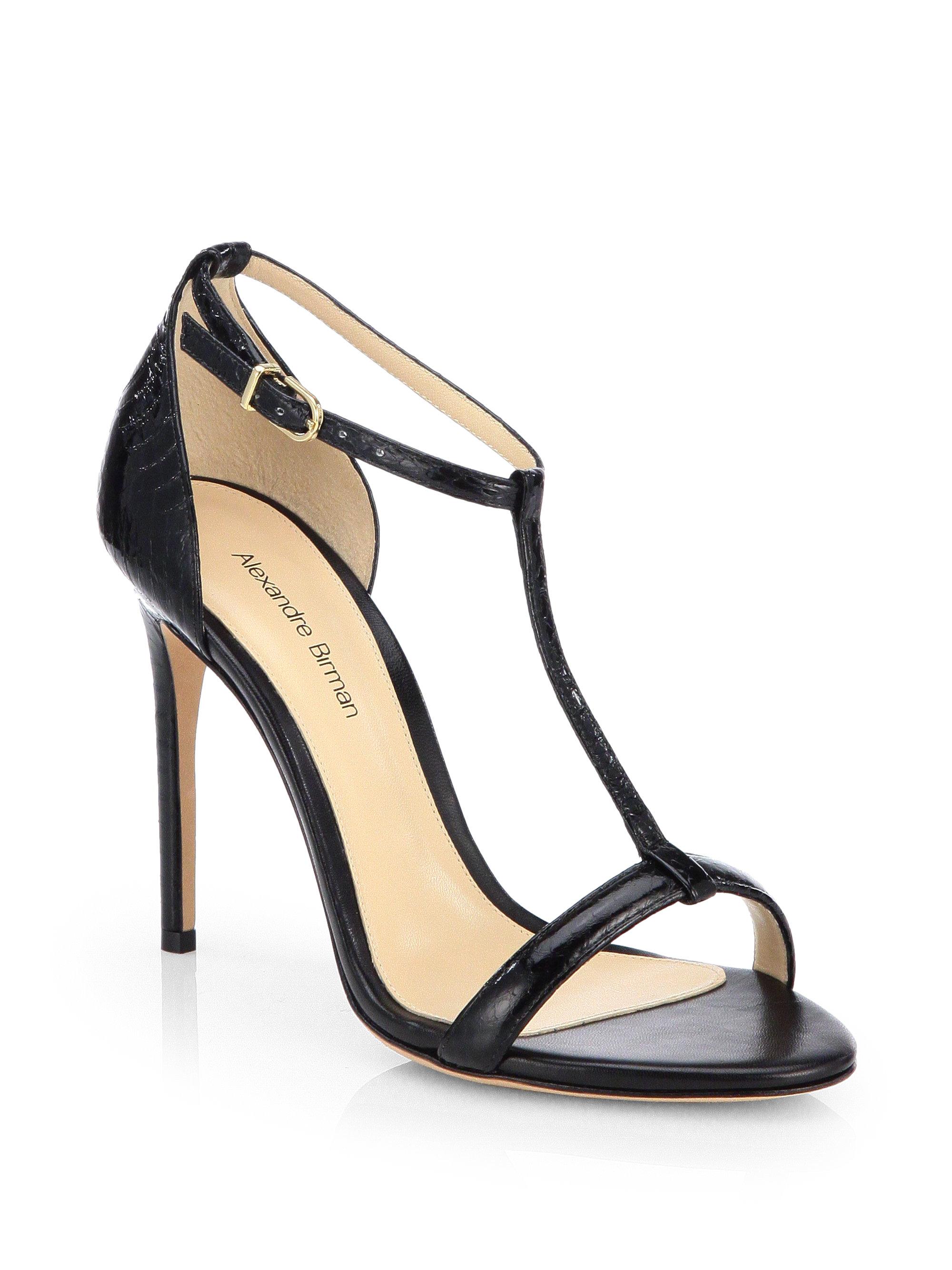 Alexandre Birman Python T-Strap Sandals cheap sale tumblr buy for sale PSkD5qY