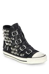 Ash Vice Studded Leather Hightop Sneakers - Lyst