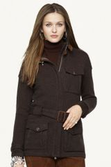 Black Label Suede trimmed Cashmere Jacket - Lyst
